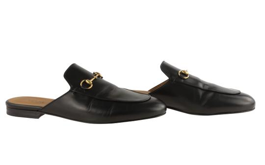 Gucci Leather Gold Hardware Black Flats Image 1