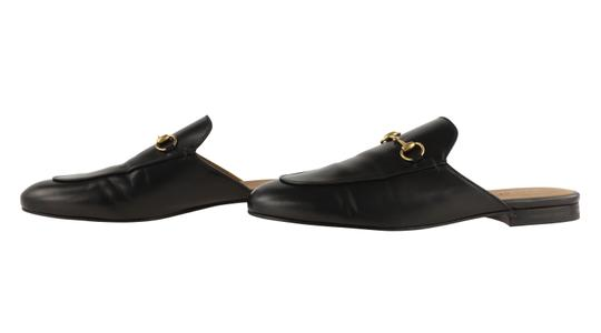 Gucci Leather Gold Hardware Black Flats Image 4