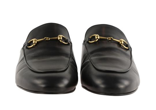 Gucci Leather Gold Hardware Black Flats Image 5