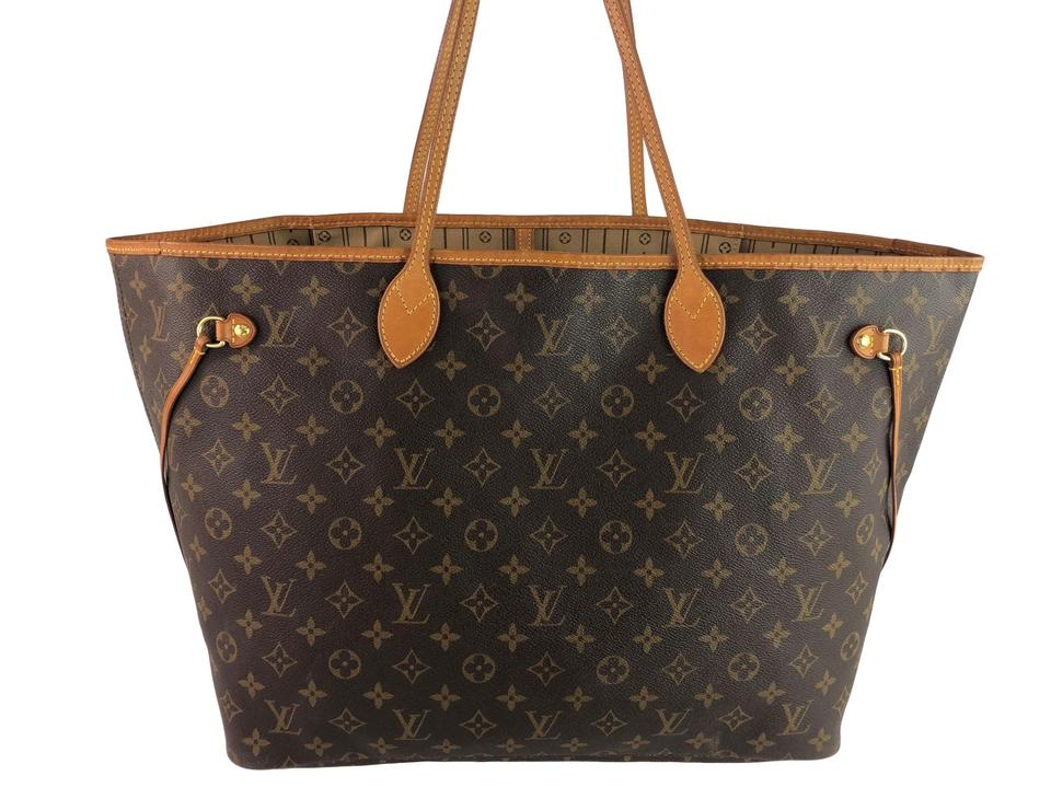 0154811e804 Louis Vuitton Neverfull Gm Monogram Brown Canvas Shoulder Bag 25% off retail