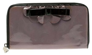Miu Miu Miu Miu Lilac Patent Leather Zip Around Wallet