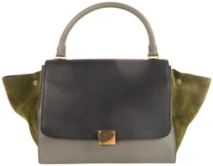 Céline Trapeze Calfskin&deerskin Medium Satchel in Multicolor