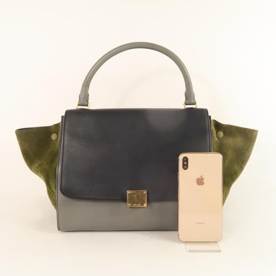 Céline Trapeze Calfskin&deerskin Medium Satchel in Multicolor Image 1