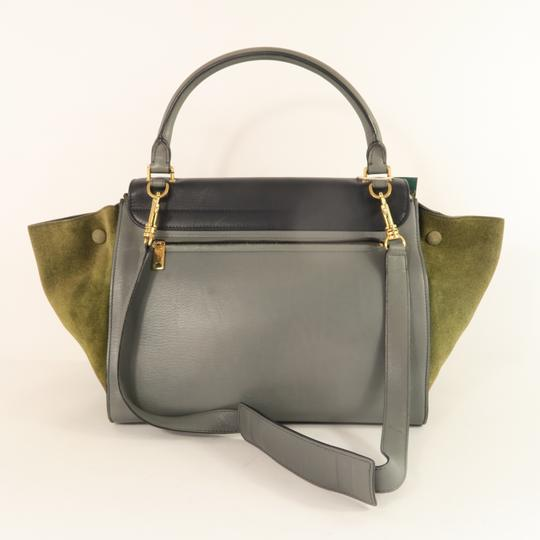 Céline Trapeze Calfskin&deerskin Medium Satchel in Multicolor Image 2