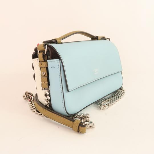 Fendi Double Micro Bow Calfskin Shoulder Bag Image 3