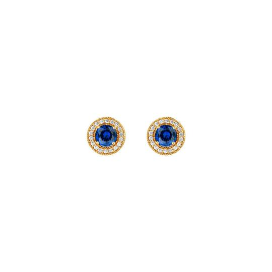 Preload https://img-static.tradesy.com/item/25824767/blue-september-birthstone-sapphire-and-cz-halo-stud-earrings-ring-0-0-540-540.jpg