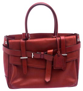Reed Krakoff Leather Boxer Tote in Red