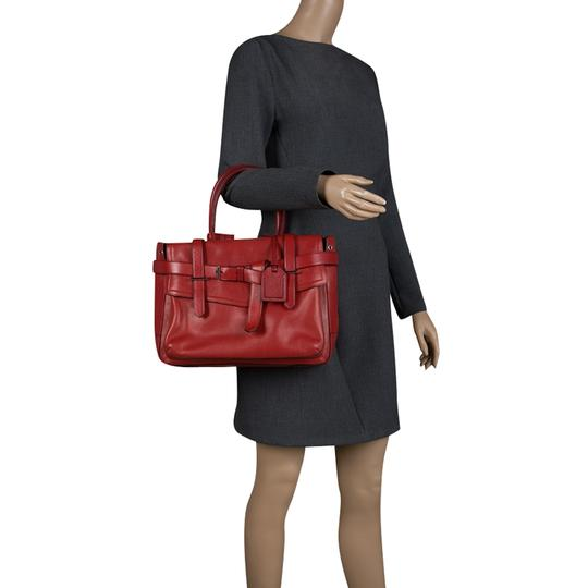 Reed Krakoff Leather Boxer Tote in Red Image 2