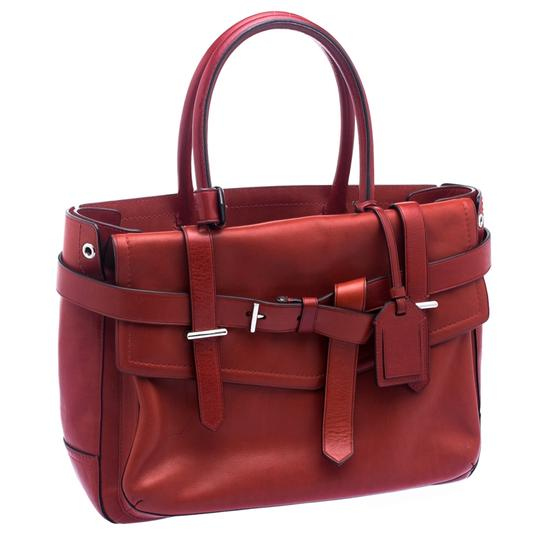 Reed Krakoff Leather Boxer Tote in Red Image 4
