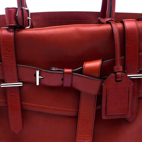 Reed Krakoff Leather Boxer Tote in Red Image 5