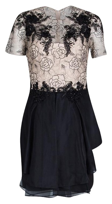 Preload https://img-static.tradesy.com/item/25824850/marchesa-notte-beige-and-black-floral-lace-and-silk-organza-mini-short-casual-dress-size-8-m-0-1-650-650.jpg