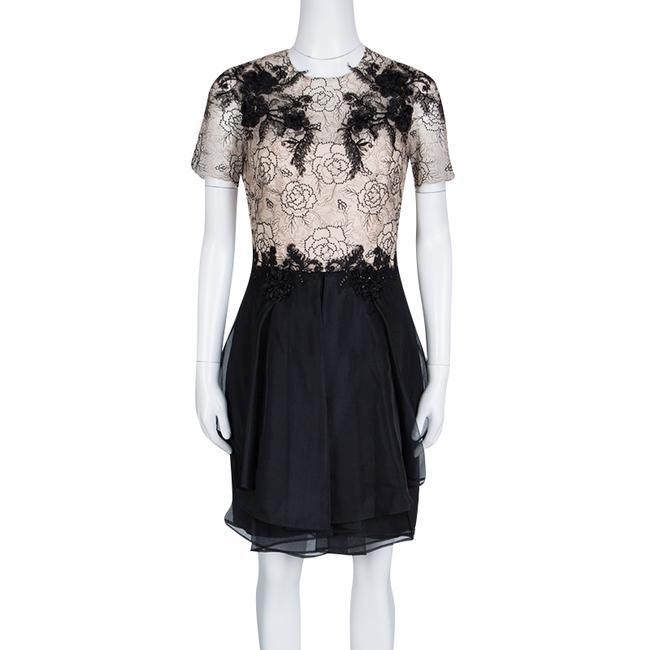 Marchesa Notte short dress Beige Floral Lace Silk Polyester on Tradesy Image 1