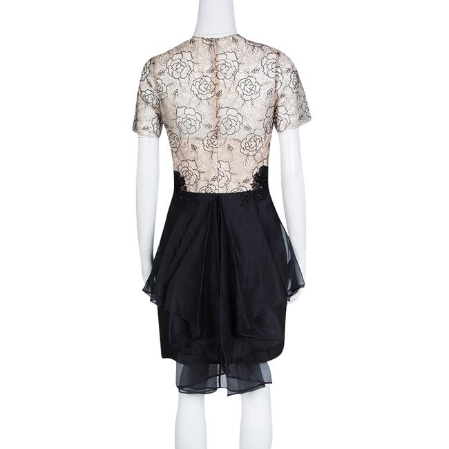 Marchesa Notte short dress Beige Floral Lace Silk Polyester on Tradesy Image 2