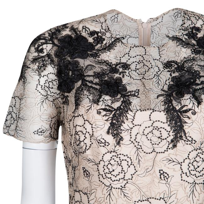 Marchesa Notte short dress Beige Floral Lace Silk Polyester on Tradesy Image 4