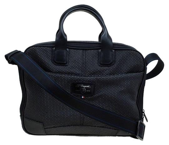 Preload https://img-static.tradesy.com/item/25824853/st-dupont-w-textured-fabric-laptop-w-battery-pouch-black-leather-satchel-0-1-540-540.jpg
