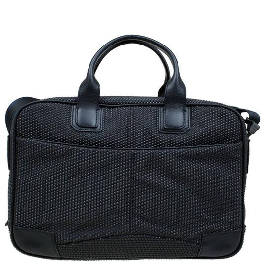 S.T. Dupont Leather Satin Textured Satchel in Black Image 1