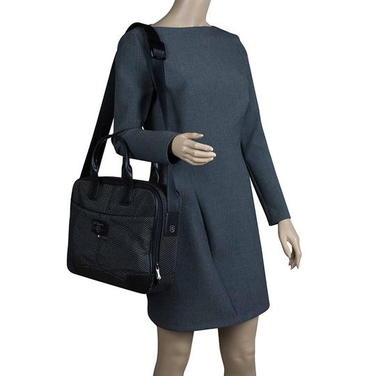 S.T. Dupont Leather Satin Textured Satchel in Black Image 2