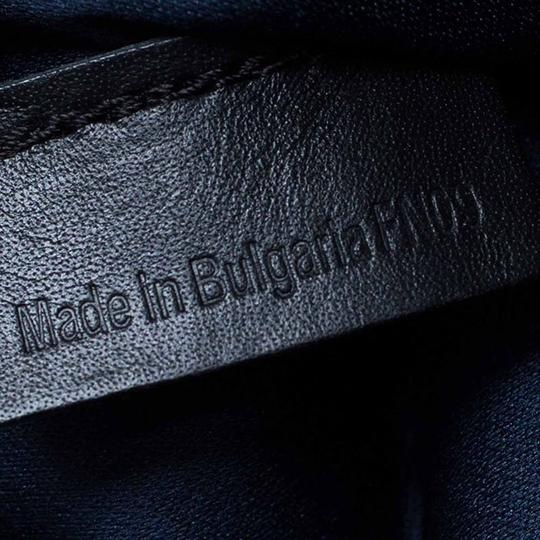 S.T. Dupont Leather Satin Textured Satchel in Black Image 6