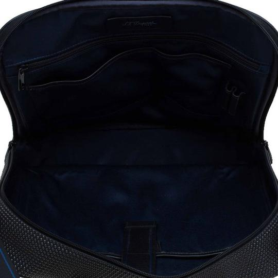 S.T. Dupont Leather Satin Textured Satchel in Black Image 7