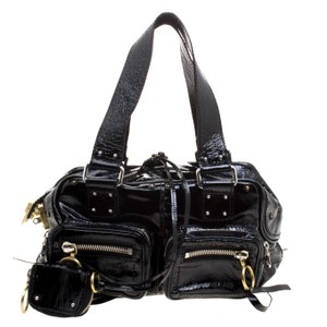 Chloé Patent Leather Satchel in Black