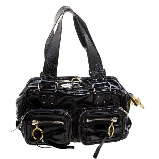 Chloé Patent Leather Satchel in Black Image 1