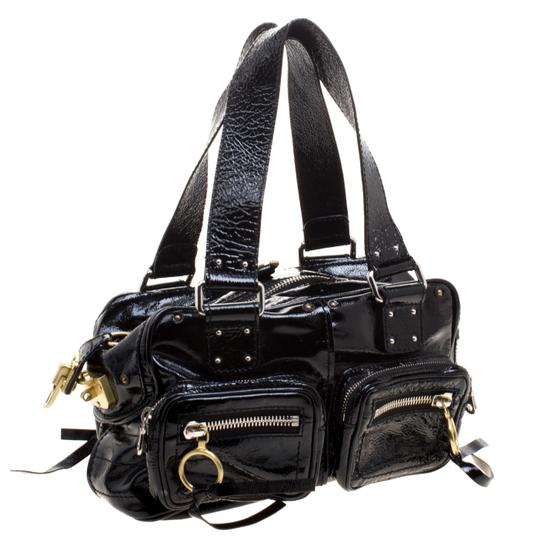 Chloé Patent Leather Satchel in Black Image 2