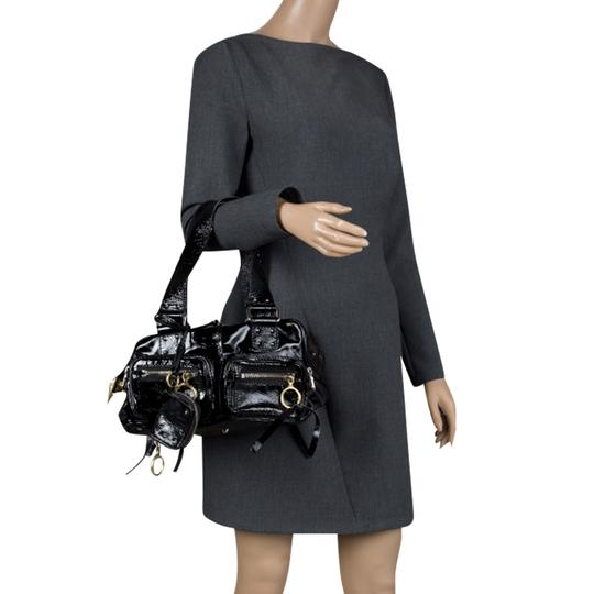 Chloé Patent Leather Satchel in Black Image 4