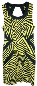 Kardashian Kollection short dress black & yellow on Tradesy
