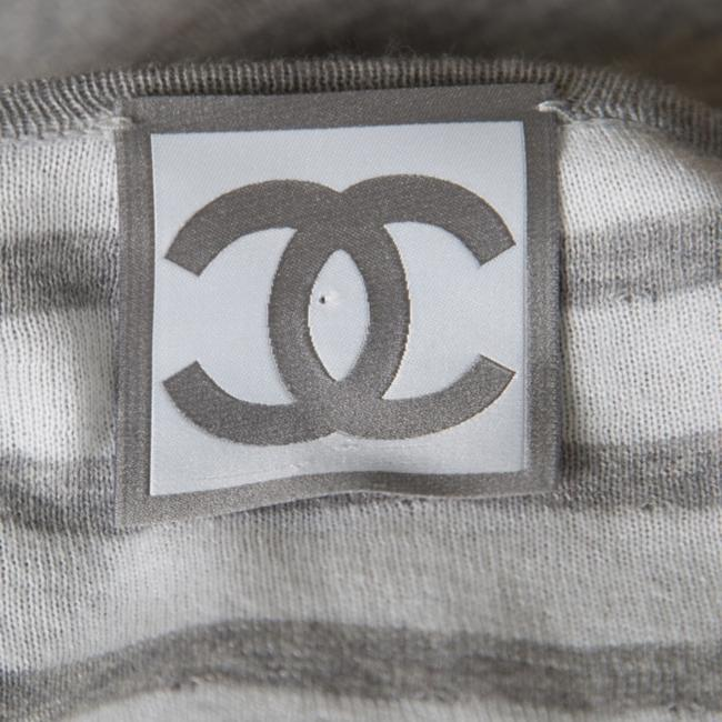 Chanel Cotton Knit V-neck Sweater Image 3