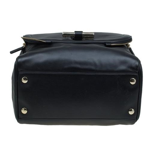 Jimmy Choo Leather Canvas Satchel in Black Image 4