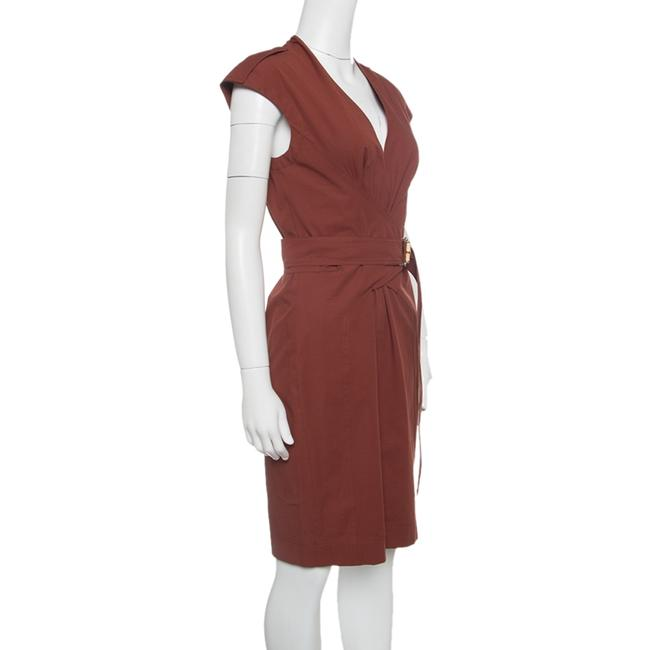 Gucci Cotton Belted Detail Dress Image 2