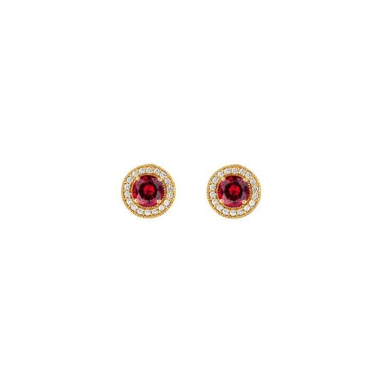 Preload https://img-static.tradesy.com/item/25824977/red-july-birthstone-created-ruby-and-cz-halo-stud-earrings-ring-0-0-540-540.jpg