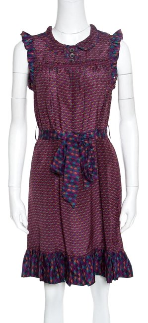 Preload https://img-static.tradesy.com/item/25824989/marc-by-marc-jacobs-multicolor-xs-printed-silk-ruffled-trim-belted-mid-length-formal-dress-size-2-xs-0-1-650-650.jpg