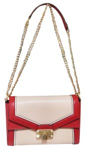 Michael Kors Blossompink Floral Shoulderbag Satchel in red pink