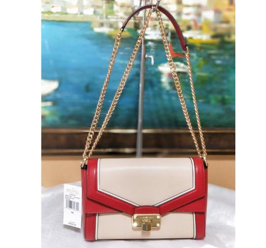 Michael Kors Blossompink Floral Shoulderbag Satchel in red pink Image 10