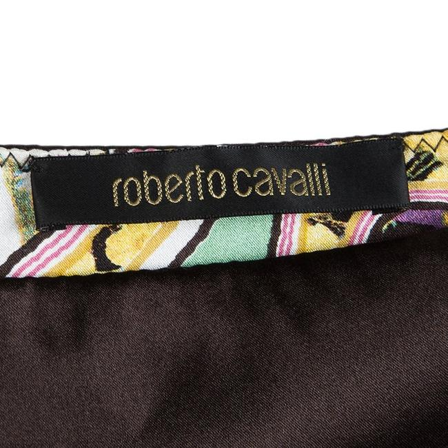 Roberto Cavalli Floral Silk Tiered Mini Skirt Multicolor Image 4