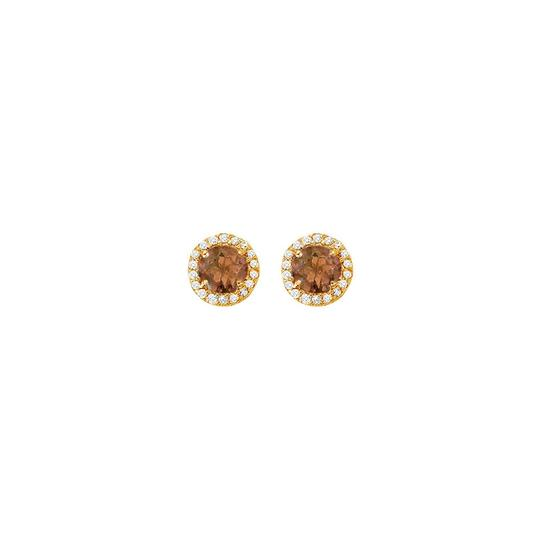 Preload https://img-static.tradesy.com/item/25825078/brown-june-birthstone-smoky-quartz-and-cubic-zirconia-halo-stud-earrings-14k-ring-0-0-540-540.jpg