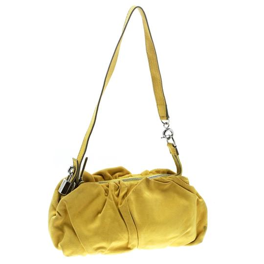 Dolce&Gabbana Suede Canvas Shoulder Bag Image 3