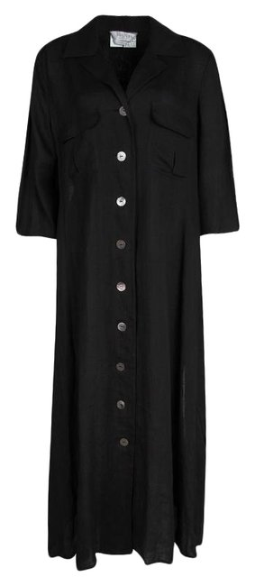 Preload https://img-static.tradesy.com/item/25825086/max-mara-black-l-linen-shirt-long-casual-maxi-dress-size-12-l-0-2-650-650.jpg