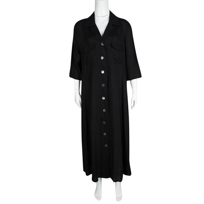 Black Maxi Dress by Max Mara Linen Shirt Image 1