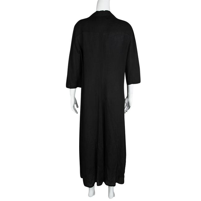 Black Maxi Dress by Max Mara Linen Shirt Image 2