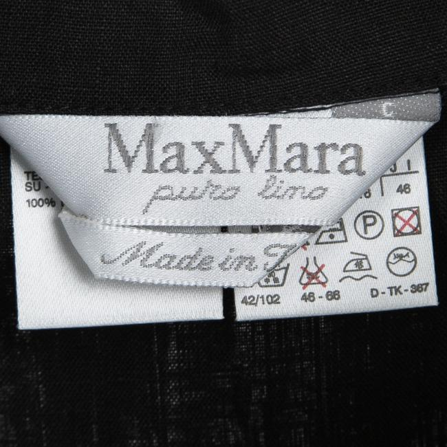Black Maxi Dress by Max Mara Linen Shirt Image 4