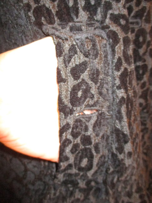 Vintage Couture Leopard Ruffled Rhinestone Onm004 Trench Coat Image 11