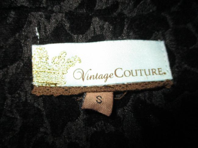 Vintage Couture Leopard Ruffled Rhinestone Onm004 Trench Coat Image 9
