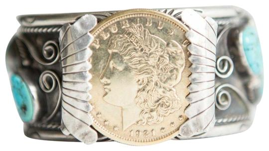 Preload https://img-static.tradesy.com/item/25825143/silver-native-american-sterling-and-14-kt-gold-vermeil-coin-navajo-cuf-bracelet-0-1-540-540.jpg