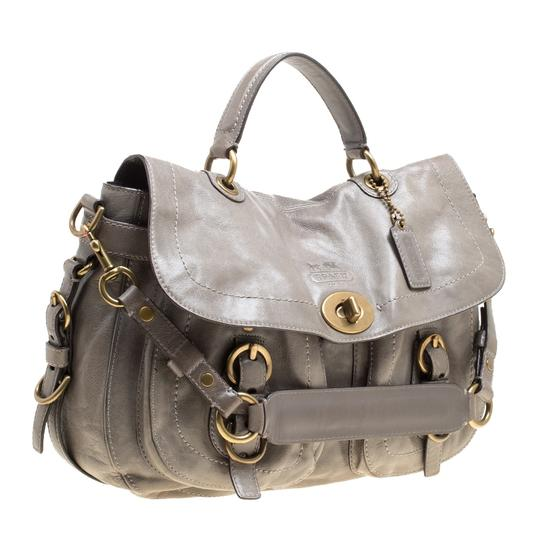 Coach Leather Satin Shoulder Bag Image 3