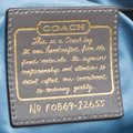 Coach Leather Satin Shoulder Bag Image 5