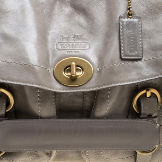 Coach Leather Satin Shoulder Bag Image 6