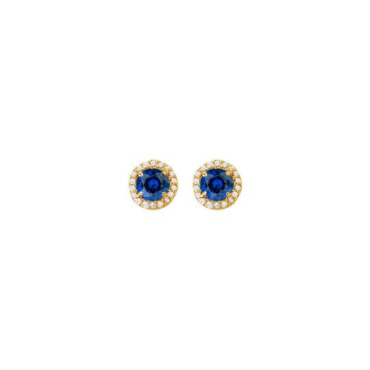 Preload https://img-static.tradesy.com/item/25825181/blue-september-birthstone-created-sapphire-and-cz-halo-stud-earrings-ring-0-0-540-540.jpg