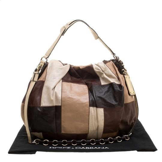 Dolce&Gabbana Leather Fabric Hobo Bag Image 10